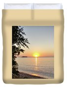 Fisherman's Island Sunset Duvet Cover