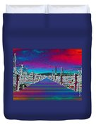 Fishermans Terminal Pier Duvet Cover