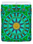 Fishes In Freedom Under The Sun Duvet Cover