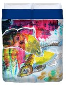Fishes In Water, Original Painting Duvet Cover