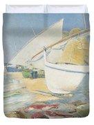 Fishing 1895 Duvet Cover