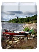 Fishing And Exploring Duvet Cover
