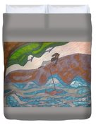 Fishing At The Cove Duvet Cover