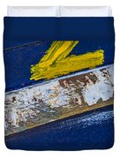 Fishing Boat Abstract Duvet Cover