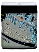 Fishing Boat Hdr Duvet Cover