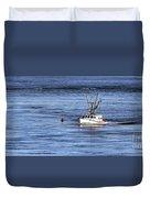 Fishing Boat Return Duvet Cover