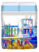 Fishing Boats 2 Duvet Cover