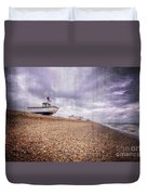 Fishing Boats At Dungeness Duvet Cover