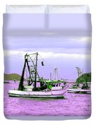 Fishing Boats At Pearl Beach 1.0 Duvet Cover