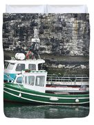 Fishing Boats Clarnlough Northern Ireland Duvet Cover
