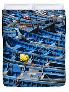 Fishing Boats In Morocco Duvet Cover