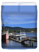 Fishing Boats In Sooke Duvet Cover