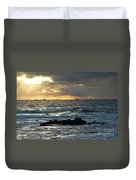 Fishing Boats Off Point Lobos Duvet Cover