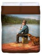 Fishing - Booze Hound 1922 Duvet Cover