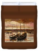Fishing Cutters  Duvet Cover