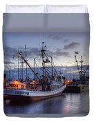 Fishing Fleet Duvet Cover by Randy Hall