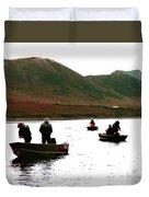Fishing For Salmon - Karluck River - Kodiak Island Alaska Duvet Cover
