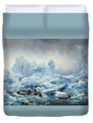 Fishing For Walrus In The Arctic Ocean Duvet Cover