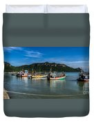 Fishing Harbour Duvet Cover