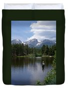Fishing In Colorado Duvet Cover