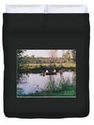 Fishing In The Bayou Duvet Cover