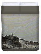 Fishing In The Twilight Zone Duvet Cover