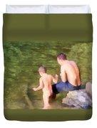 Fishing Lesson Duvet Cover