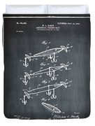 Fishing Lure Patent 1904 Chalk Duvet Cover