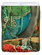 Fishing Net Portrait Duvet Cover