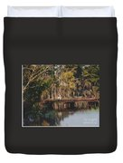 Fishing On The Bridge Duvet Cover