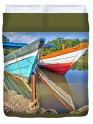 Fishing Pirogues  Duvet Cover
