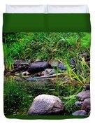 Fishing Pond Duvet Cover