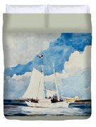 Fishing Schooner In Nassau Duvet Cover