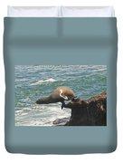 Fishing Sea Lion Duvet Cover