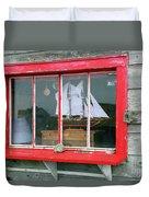 Fishing Shack Window 5998 Duvet Cover