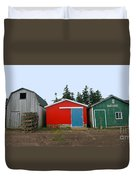 Fishing Shacks  Prince Edward Island  Canada Duvet Cover