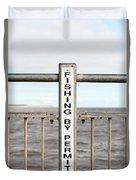 Fishing Sign Duvet Cover
