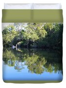 Fishing The Withlacoochee River. Duvet Cover