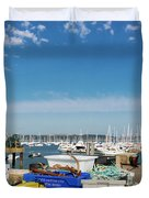 Fishing Things Duvet Cover