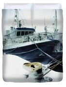 Fishing Trawler, Howth Harbour, Co Duvet Cover