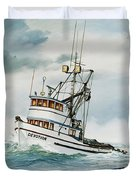 Fishing Vessel Devotion Duvet Cover
