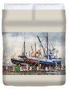 Fishing Vessel Ranger Drydock Duvet Cover