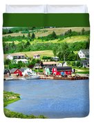 Fishing Village In Prince Edward Island Duvet Cover