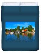 Fishing Village Of Vaxholm Sweden Duvet Cover