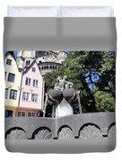 Fishmongers Fountain In Koln, Germany Duvet Cover