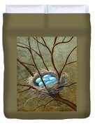 Five Blue Eggs Duvet Cover