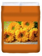 Five Exotic Sunflowers Duvet Cover