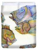 Five Fading Fish Duvet Cover