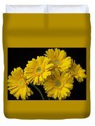 Five Gerbera Daisies Duvet Cover