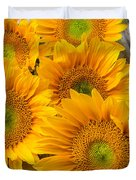 Five Moody Sunflowers Duvet Cover